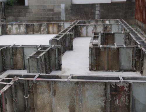 基礎工事完了から床下断熱材