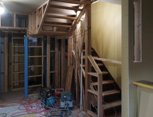階段が出来つつ。