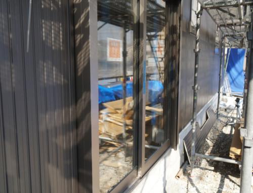外壁の金属製サイディング